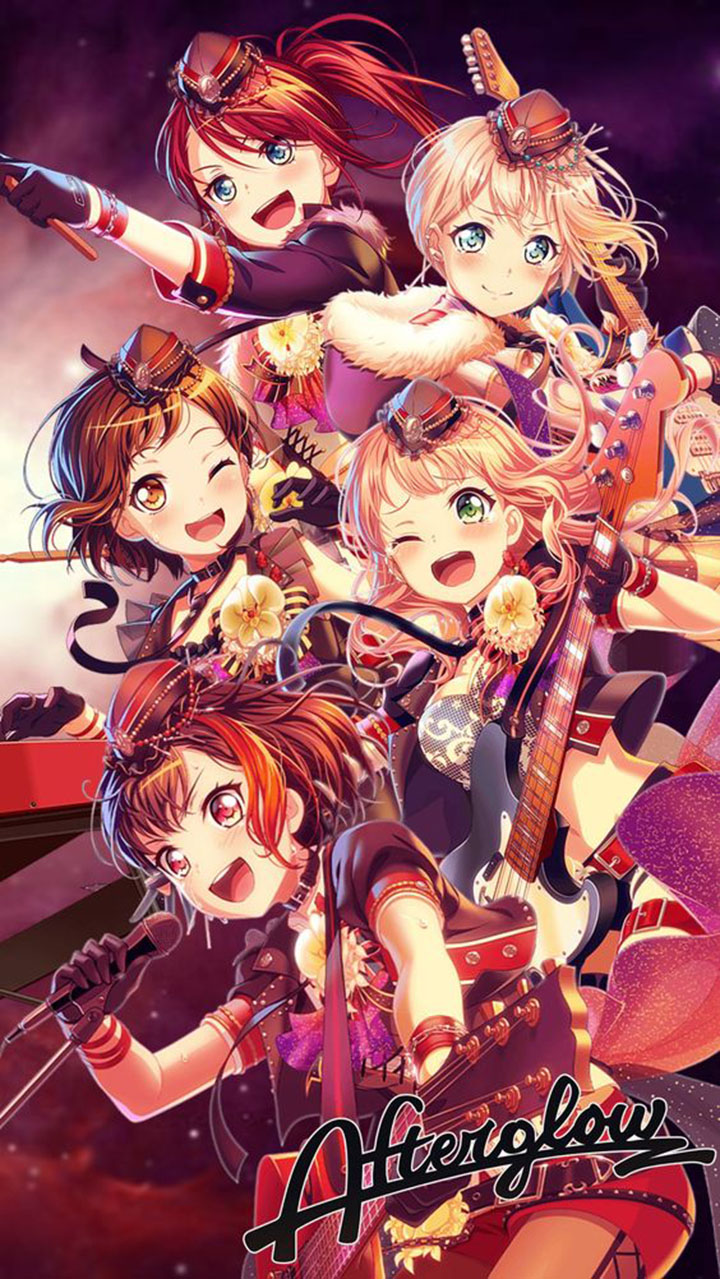 afterglow bandori logo, afterglow bandori members, afterglow bandori seiyuu, roselia bandori, bandori party, himari bandori, bandori quotes, afterglow japanese band,